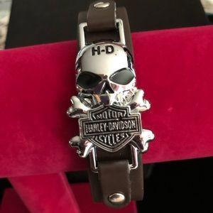 Jewelry - Leather Harley Davidson leather bracelet
